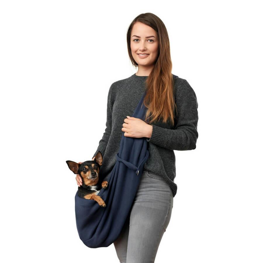 los angeles dog sling carrier bag blue. Black Bedroom Furniture Sets. Home Design Ideas
