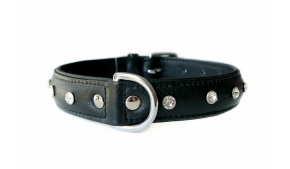 amalfi-black-leather-collar-rhinestones