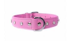 amalfi-pink-leather-collar-rhinestones