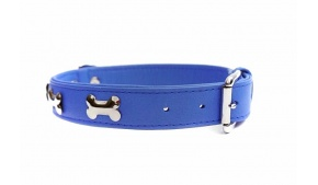 blue-leather-bones-dog-collar-side