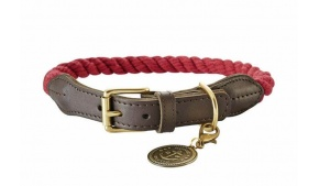 red-rope-leather-dog-collar