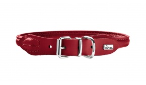round-soft-elk-leather-dog-collar-red