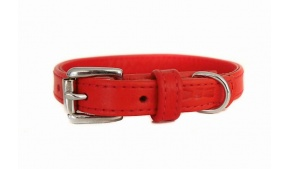 small-leather-collar-red