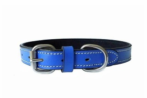 fiesta-blue-leather-collar