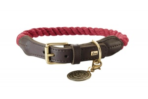 rope-leather-dog-collar-red