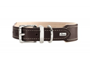 virginia-organic-leather-dog-collar-dark-brown