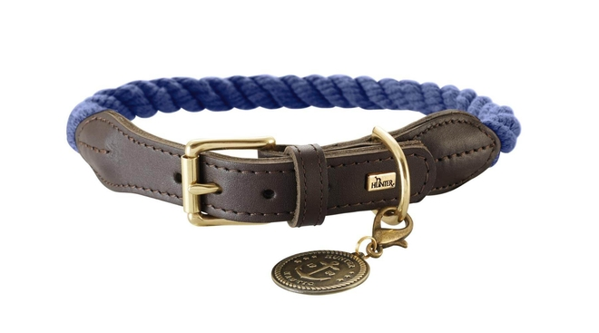 rope-leather-dog-collar-blue