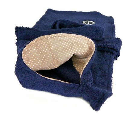 Dog robe (navy blue)
