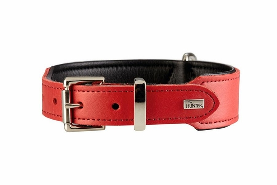hunter-split-leather-red-dog-collar-front