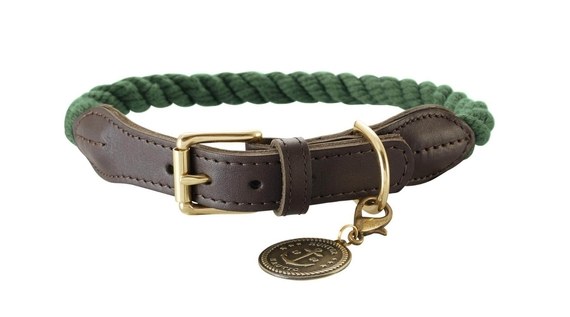 rope-leather-dog-collar-green