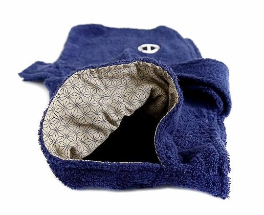 Dog robe (navy) - Petite size only